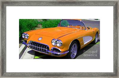 Orange Crush Framed Print by Janice Westerberg