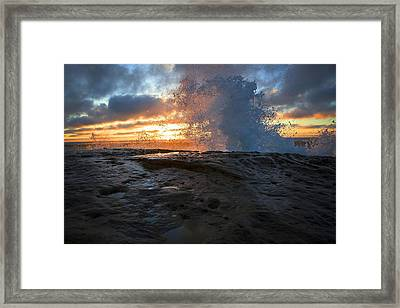 Orange Crush  Framed Print by Kenny Noddin