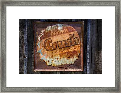 Orange Crush Sign Framed Print