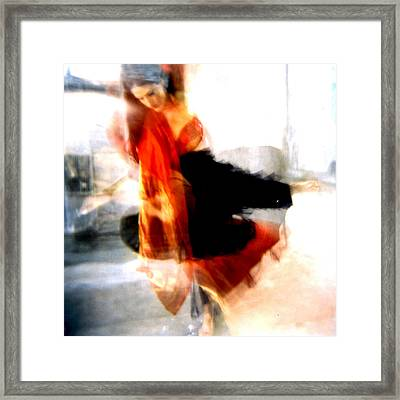 Orange Dancer 1 Framed Print