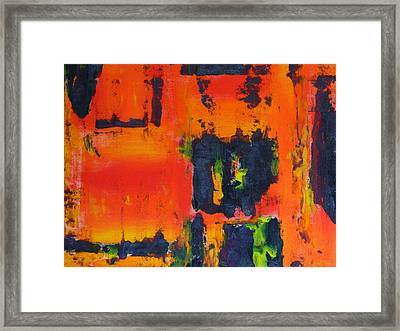 Framed Print featuring the painting Orange Day by Everette McMahan jr
