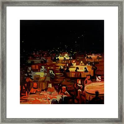 Orange Dining Room 2 Framed Print by Susie Hamilton