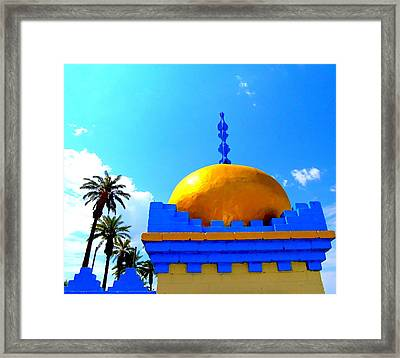 Orange Dome Framed Print