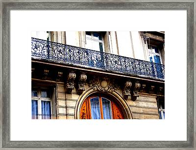 Orange Door Framed Print