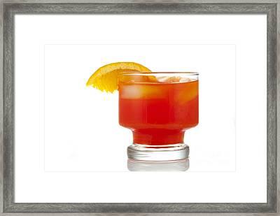 Orange Drink Framed Print by Juli Scalzi