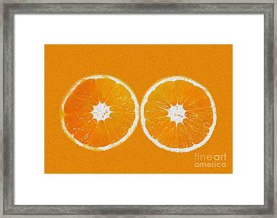 Orange Eyes Framed Print