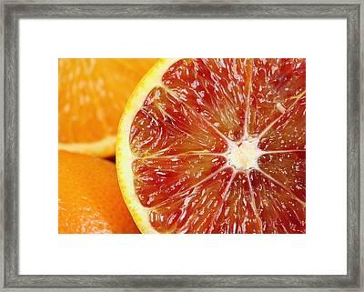Orange Framed Print by Falko Follert