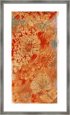 Orange Fantasia Framed Print by Anne-Elizabeth Whiteway