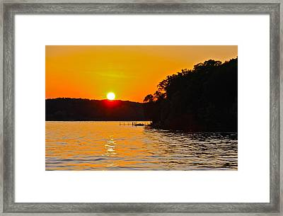 Orange Fire33 Framed Print by Susan Crossman Buscho