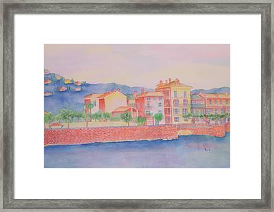 Orange Fisherman's Island Framed Print by Rhonda Leonard