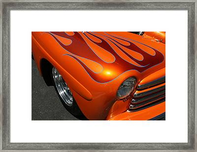 Orange Flames Framed Print