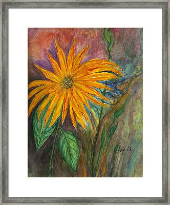 Orange Flower Framed Print by Anais DelaVega