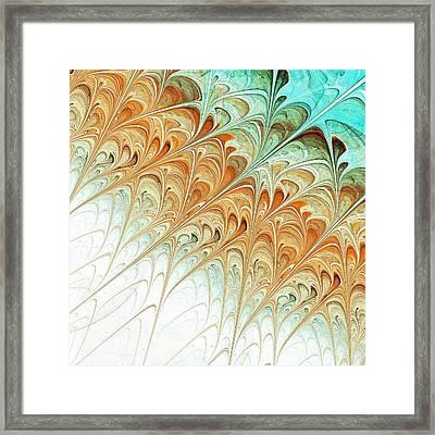 Orange Folium Framed Print by Anastasiya Malakhova