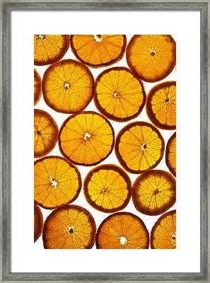 Orange Fresh Framed Print by Vitaliy Gladkiy