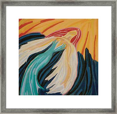 Orange Glow Angel Framed Print by Mike Manzi