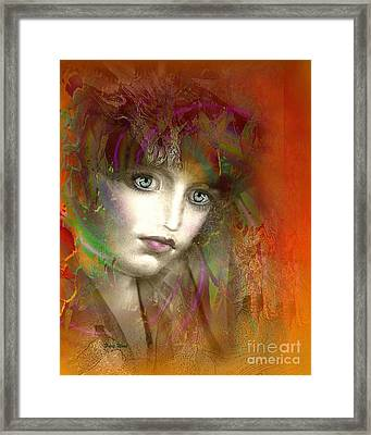 Orange Glow Framed Print by Doris Wood