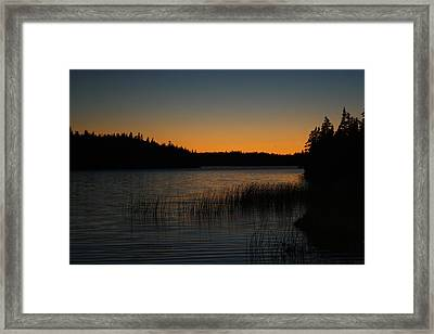 Orange Glow Framed Print by Jason Lees