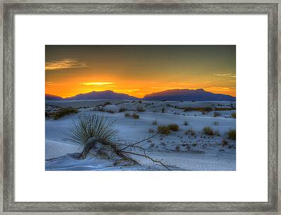 Framed Print featuring the photograph Orange Glow by Kristal Kraft