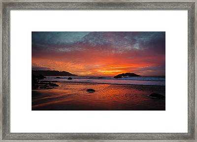 Orange Glow Framed Print