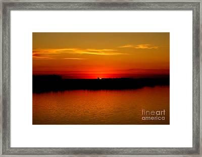 Orange Glow Framed Print by Lori Tordsen