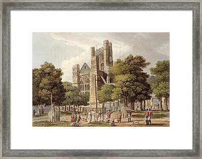Orange Grove, From Bath Illustrated Framed Print by John Claude Nattes