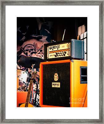 Orange Guitar Amps Framed Print