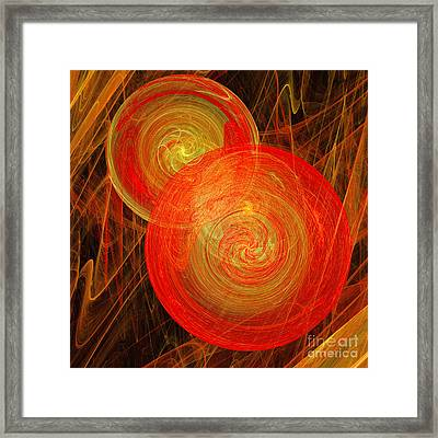 Orange Hard Candy Abstract Framed Print by Andee Design