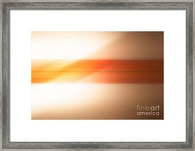 orange I Framed Print by Hannes Cmarits