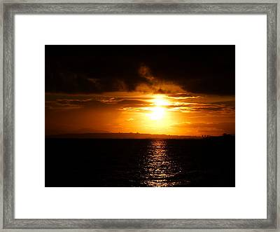 Orange In Black Framed Print by Alessio Casula