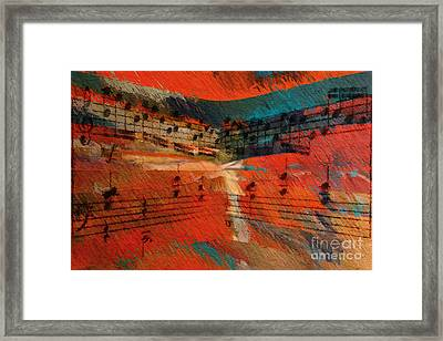 Framed Print featuring the digital art Orange Intermezzo by Lon Chaffin