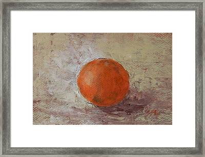Framed Print featuring the painting Orange by Jane  See