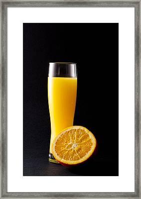 Orange Juice Framed Print by Gergana Chakalova