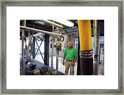 Orange Juice Production Framed Print by Jim West
