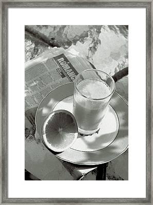 Orange Juice Romance Framed Print