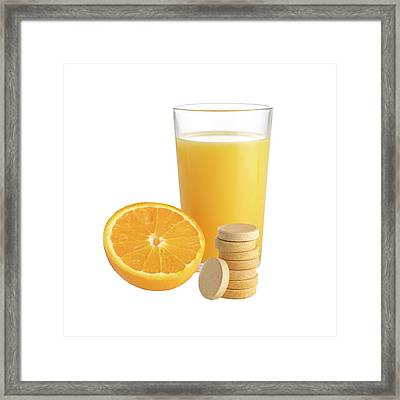 Orange Juice Framed Print by Science Photo Library