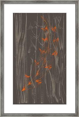 Orange Leaf Framed Print by Lori Ulatowski