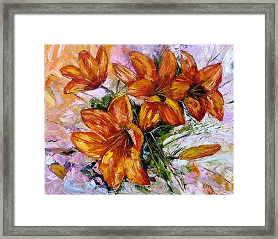 Orange Lilies Framed Print