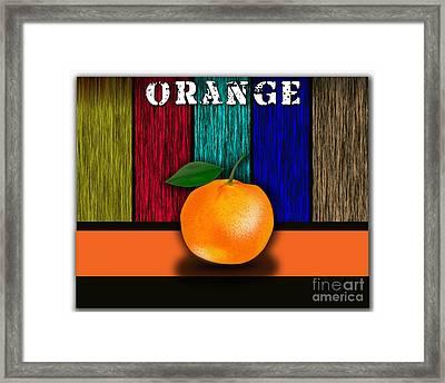 Orange Framed Print by Marvin Blaine