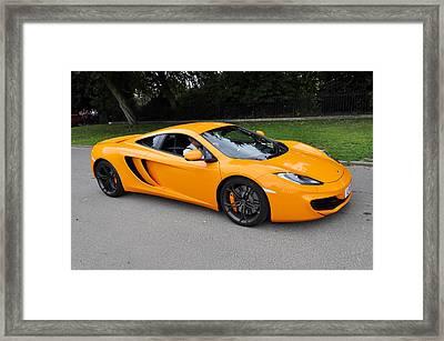 Orange Mclaren Mp4-12c Framed Print