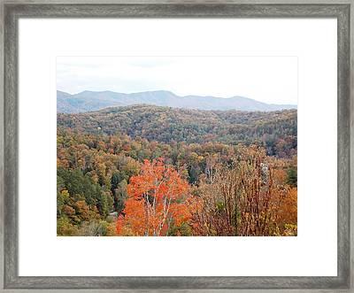Orange Mountain Range Framed Print by Regina McLeroy