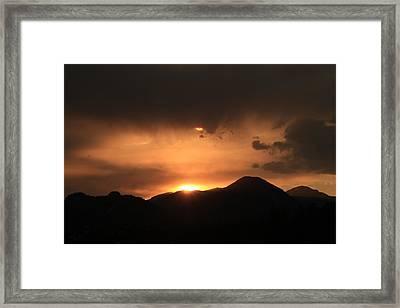 Orange Night Framed Print by Alicia Knust