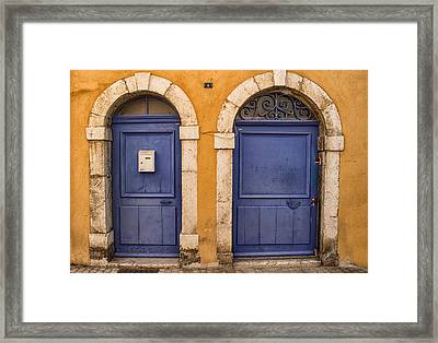 Twin Doors Framed Print by Georgia Fowler