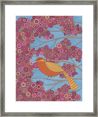 Orange On Pink Framed Print