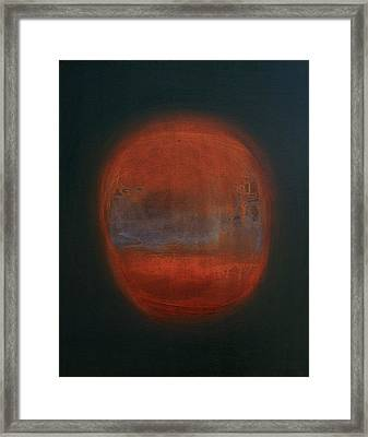 Orange Orb Framed Print