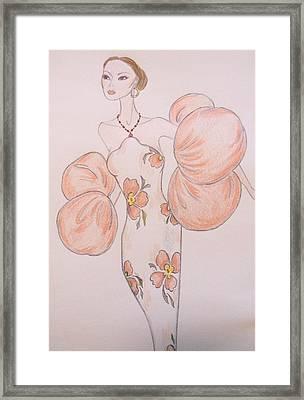 Orange Organza Framed Print by Christine Corretti
