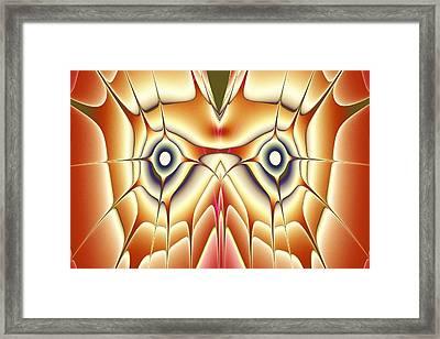 Orange Owl Framed Print