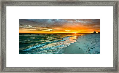 Orange Panoramic Sunset Framed Print