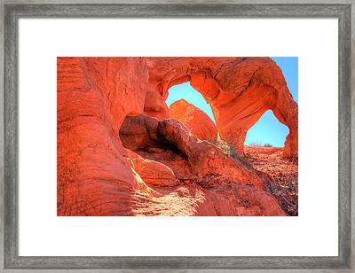 Orange Peel Arch Framed Print by Laura Palmer