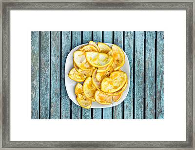 Orange Peel Framed Print by Tom Gowanlock