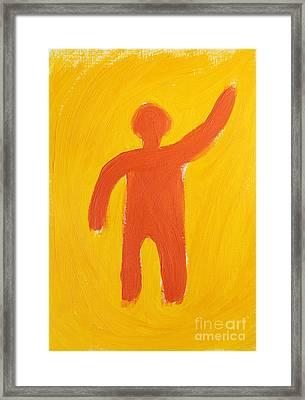 Orange Person Framed Print